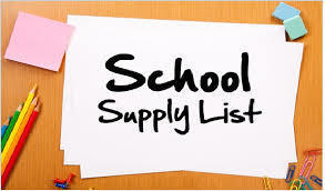 PCHS Supply Lists