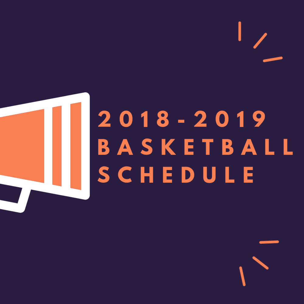 2018-2019 Basketball Schedule