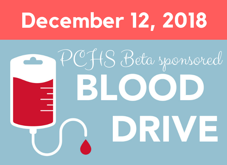 PCHS Beta Sponsored Blood Drive