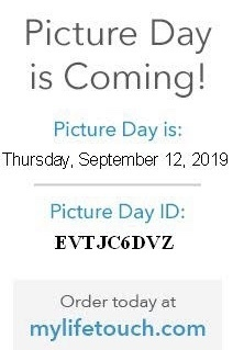 Elementary Picture Day is on Thursday September 12th