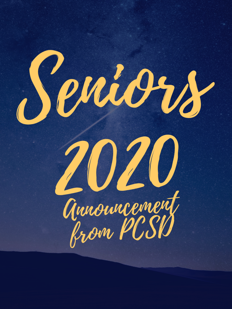 Announcement Concerning Our Senior Class of 2020