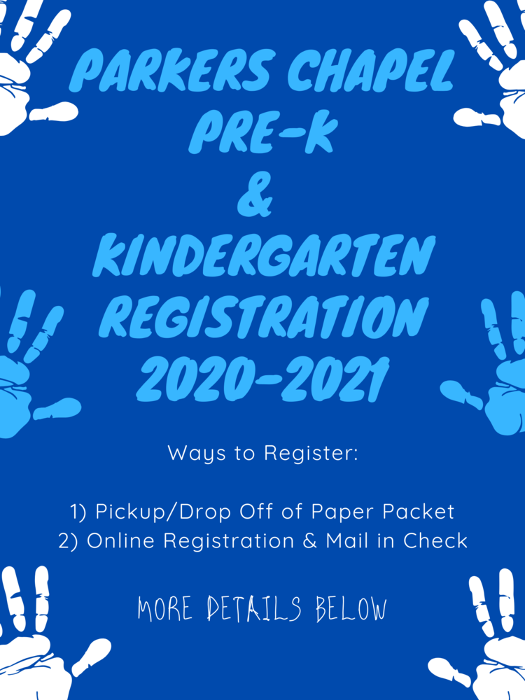 PC Paid Pre-K & Kindergarten Registration!