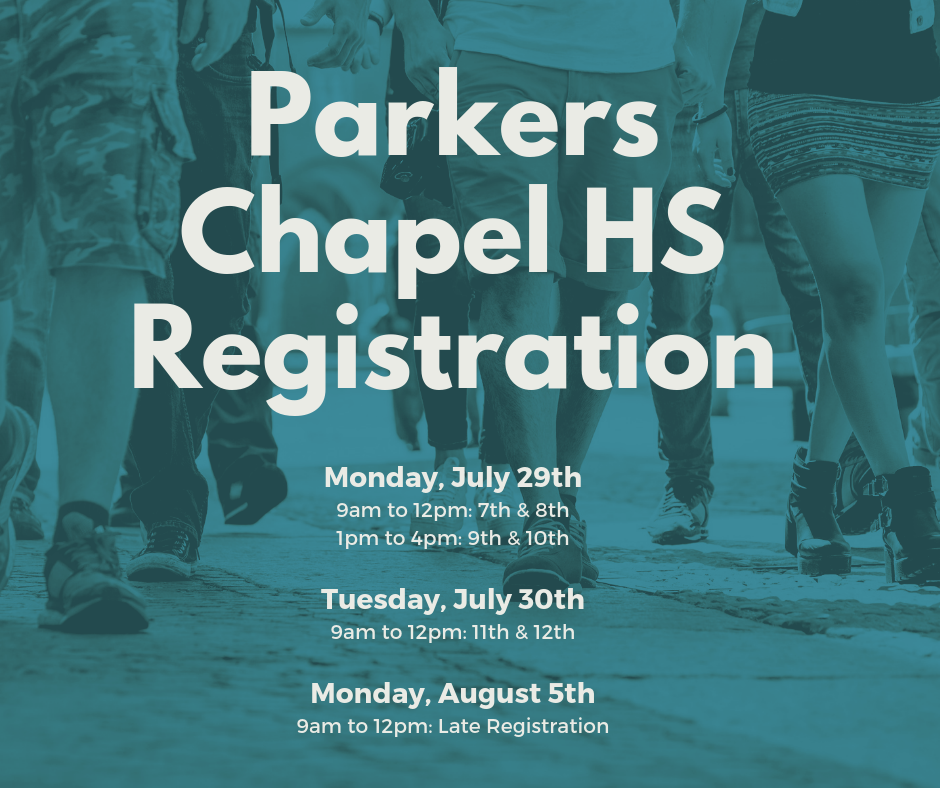 High School Registration Dates Announced