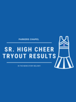 Sr. High Cheer Tryout Results