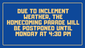 Homecoming Parade Rescheduled