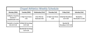 PCHS Athletics Week of March 29th