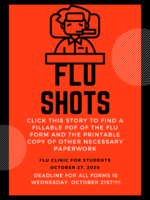 Flu Clinic at PC Oct 27th, Forms Below