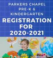 Pre-K & Kinder Registration 2020-2021