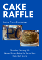 Junior Class to Raffle Off Cake and Carrier at Feb. 11th BBall Game