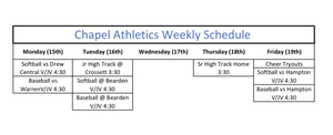 PCHS Athletics Week of March 15th