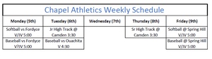 PCHS Athletics Week of April 5th